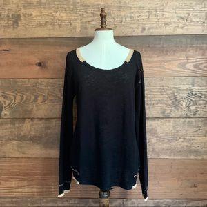 Michael Stars Black & Tan Sweater